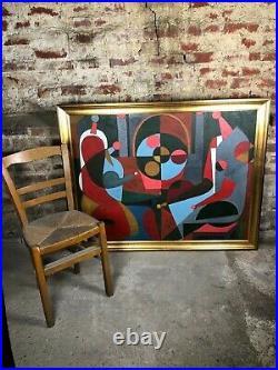 Peinture / huile sur toile sujet d'évangile1997 signé Valéry Gazoukine (Russe)