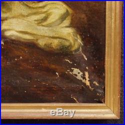 Peinture huile sur toile tableau signé daté portrait nu féminin style ancien