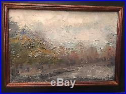 Peinture sur panneau Signé Debus Paysage 48x36cm