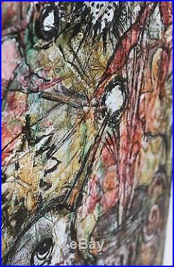 Peinture sur toile fleurs a l'oiseau par Georges Ebrin Adingra