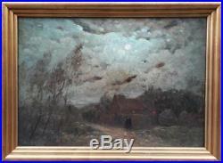 Pepe Wyssant Wissant Cote Opale Peintre Lune Paysage Nord Peinture France