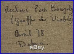 Peter Deluca (1941-2012) Gouffre du diable Huile sur toile, 1978