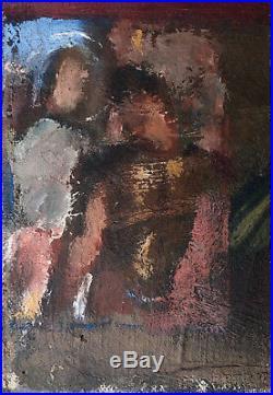 Petit Tableau Huile Composition religieuse Aimee-Liouba Borissova Russe 1925