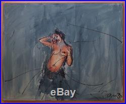 Philippe Pasqua Technique mixte 1997 collage peinture sur toile signé et daté