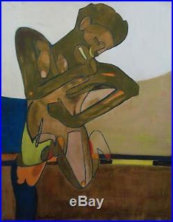 Pierre Courtens huile sur toile lÉcole de Puteaux