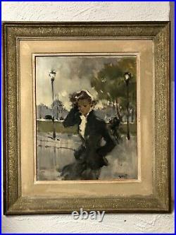 Pierre GRISOT tableau peinture parisienne signé lot n°3