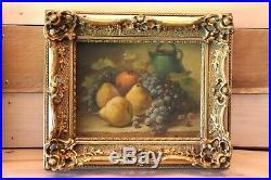 Pierre Morain(1821-1893)Huile sur toile HST peinture nature morte 19ème Artprice