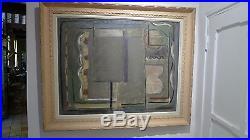 Pierre Pen-Koat Huile sur toile marouflée sur panneau Composition