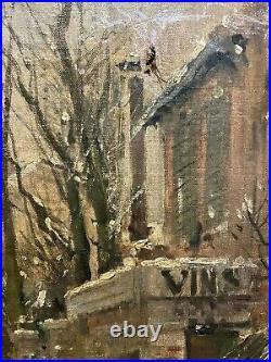 Pierre Vauthier (1845-1916) Les Innondations De Paris, 1910 tableau ancien musée