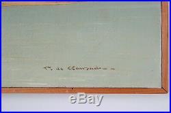 Pierre de CLAUSADE, Huile sur toile, Bords de Loire