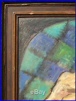 Poissons et crustacés. Important tableau de Georgette DUPOUY (Musée à DAX)