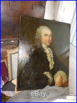 Portrait aristocrate LOUIS XV d, epoque encadrement gout Claude Arnulphy