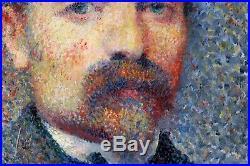 Portrait, autoportrait, tableau, peinture, Signac, Seurat, Luce, pointillisme | Peinture sur toile