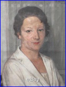 Portrait de Suzanne, sa belle-soeur, par Camille de Buzon (1885-1964)