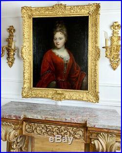 Portrait du XVIIIe d'une femme de qualité Louise de Raymond Huile sur toile