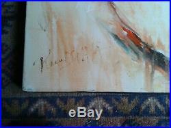 Prem DEVAKA NU RELAX ALLONGé DE DOS Huile sur toile ART MAJEUR, signée