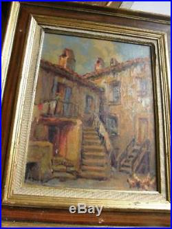 Primitif Bono Peintre Paysagiste Corse Piana 1930