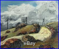 Puissant Paysage Sous L'orage 1950. Entre Impressionnisme & Fauvisme. Signé