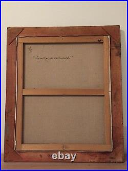 RARE GRAND TABLEAU PEINTURE HST PARIS MONTMARTRE signé ARMAND BOUVIER 1913-1997