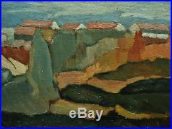 RARE Louis Morère (1885-1949) Marine à Rabat, 1940. Maroc, Peintre Orientaliste