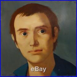 RARE Michel CIRY Tableau Portrait d'Homme Certificat d'authenticité