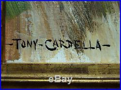 RARE! Tony Cardella 1898-1976 Femmes Corses en corvée. Peintre Corse, Bach, Péri