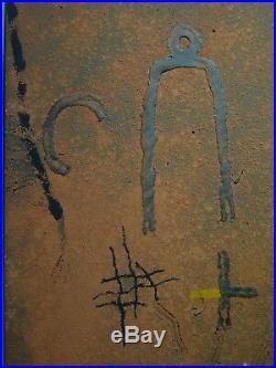 RICHARD TEXIER (Né en 1955) Tableau Huile Technique mixte daté 1990 Ré