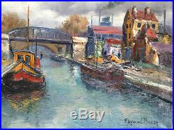 Raymond BESSE Canal St-Denis Aubervilliers Paris Industrie Péniche Huile ST