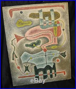 René CERA Autoportrait huile sur toile marouflée sur carton SBD, NOV 1963