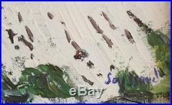 René Seyssaud. La neige sur le plateau Sault. Huile sur toile v606