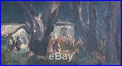 Richard Mandin, huile sur toile. Paysage. Peintre de Marseille v 222