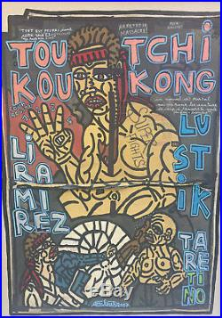 Robert Combas. Tou Tchi Kou Kong. Technique mixte sur toile v697
