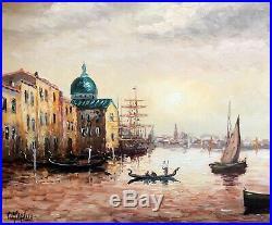 Robert MOGISSE Venise Belle huile sur toile signée