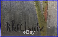 Robert PETIT LORRAINE (1920-2006) Huile sur toile Bouquet de fleurs (v)