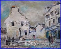 Robert SAVARY (1920-2000) HsT années 60 / Nle Ecole de Paris Jeune Peinture