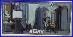Roger BERTIN huile sur toile L'Atelier de l'artiste