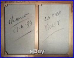 Roland CHANCO 1914 2017 Cubisme Le Vase Violet Huile Catalogue raisonné n°2198