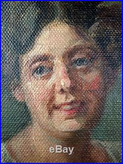 Rudolf Welleba (Autrichien, 1874-1958) Ancien Tableau Peinture Huile Original