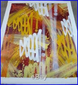 SEEN- Richard Mirando- original painting not banksy, invader, obey, stik, blek