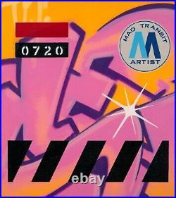 SEEN graffiti signé sur toile et châssis- cope2/futura/taki/quik/dondi/tracy