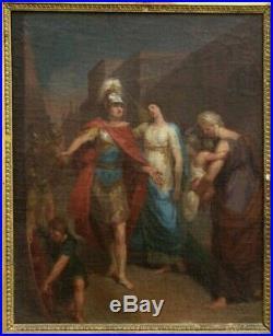 Sébastien Leclerc le Jeune (Attr.) Hector Andromaque peinture huile/toile XVIIIe