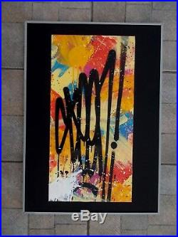 Seen Peinture Originale sur Toile, Richard Mirando, Street Art Graffiti