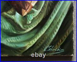 Skribins Tableau Peinture Huile Sur Toile 10f 55x46