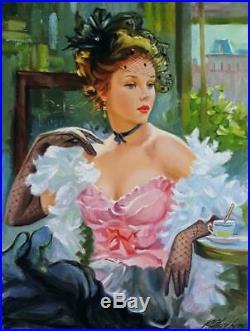 Skribins Tableau Peinture Huile Sur Toile 12p 61x46