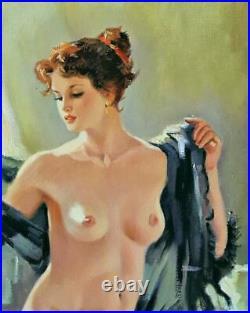 Skribins Tableau Peinture Huile Sur Toile 15f, 65x54