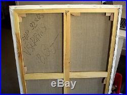 Skribins Tableau Peinture Huile Sur Toile 30p 92x65