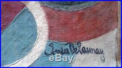 Sonia Delaunay (1885-1979) Huile Sur Toile Signée