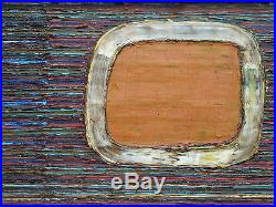 Stavros Papassavas Grece Gde Peinture Abstraite Figurative Huile Sur Toile 1975