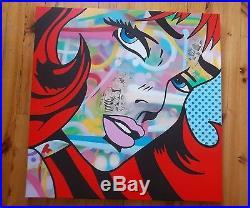 Street Art. Peinture Originale sur Toile de Gomor Mademoiselle. Signée