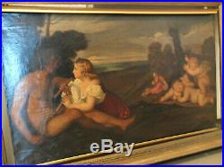 Suiveur Du Titien. Les Trois âges De La Vie. Peinture Fin XIXe